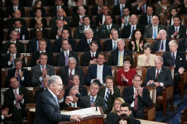 Israeli Prime Minister Benjamin Netanyahu addresses a joint Session of Congress on Tuesday March 3, 2015.